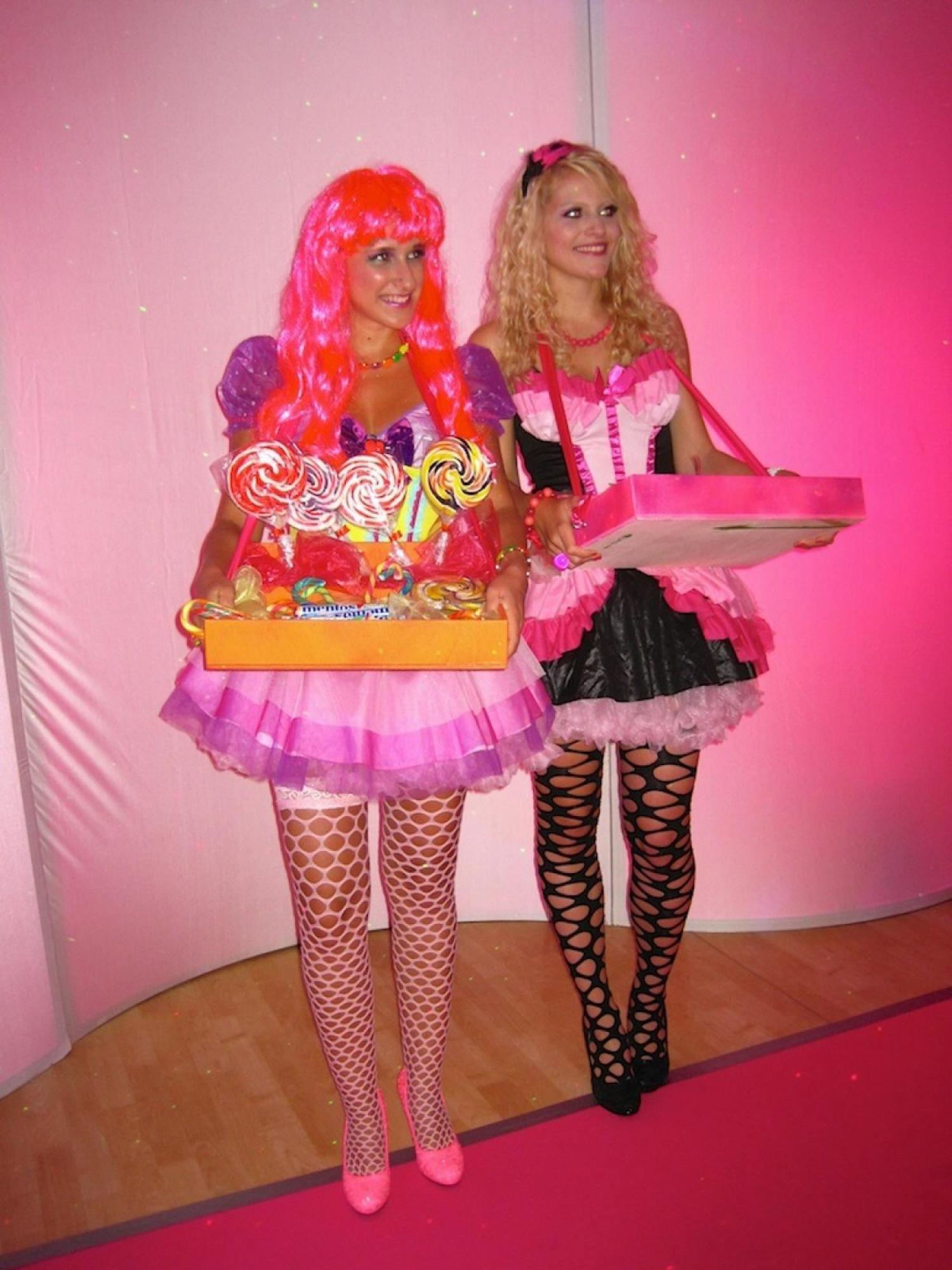 Begrüßung der Gäste durch unsere Candy-Girls.