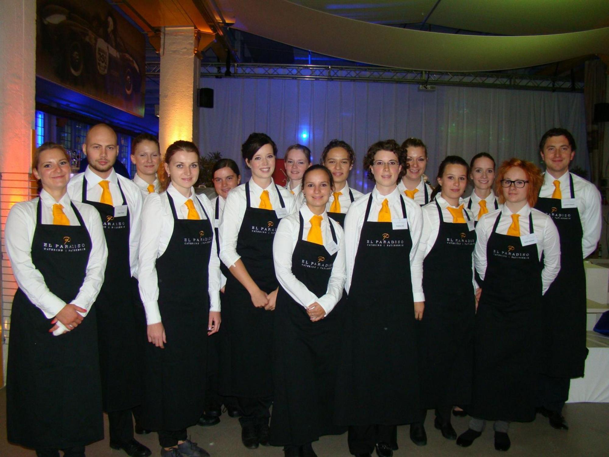 Eine von vielen Cateringveranstaltungen mit unserem Servicepersonal im Ofenwerk.
